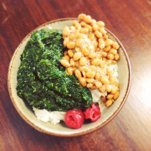 ぎばさと納豆のせご飯の画像